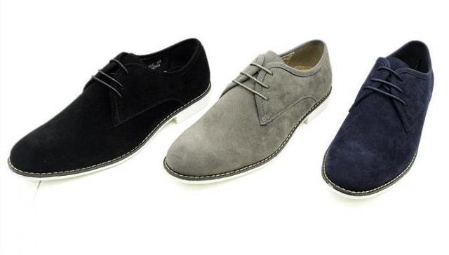 Herren Business Schuhe Slipper Sneakers Shoes Wildlederimitat 2 Farben