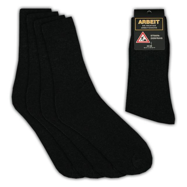 herren arbeits socken schwarz baumwolle 39 46 f r 0 59 eur 12428940. Black Bedroom Furniture Sets. Home Design Ideas