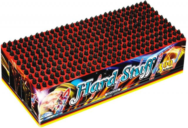 Hard Stuff 300-Schuss Pfeif-Batterie f Silvester Party