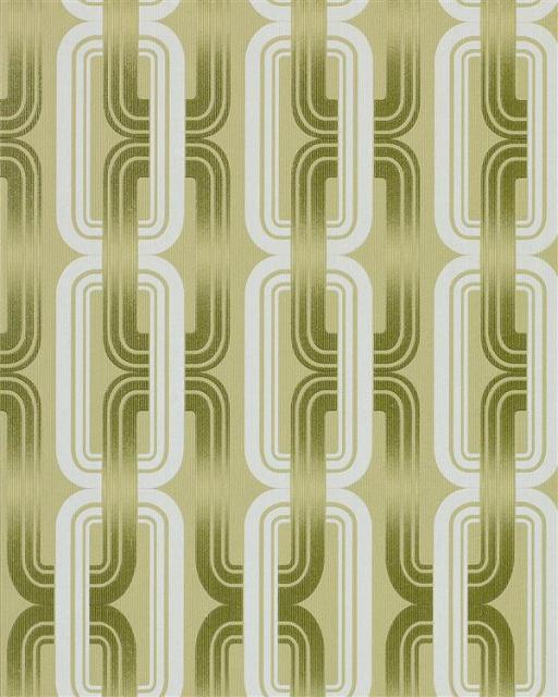 Grafische Tapeten Muster : Retro Kult 70er Style Designer Tapete grafische abstrakte Muster gr?n