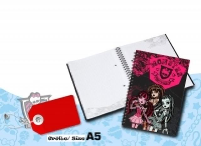 Notizblock DIN A5 kariert 80 Blatt Monster High