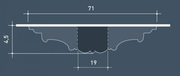 rosette zierrosette profil stuck decken wand decor element. Black Bedroom Furniture Sets. Home Design Ideas