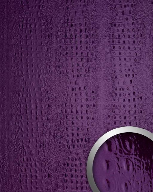Croco wandpaneel 3d luxus leder blickfang dekor for Tapete violett