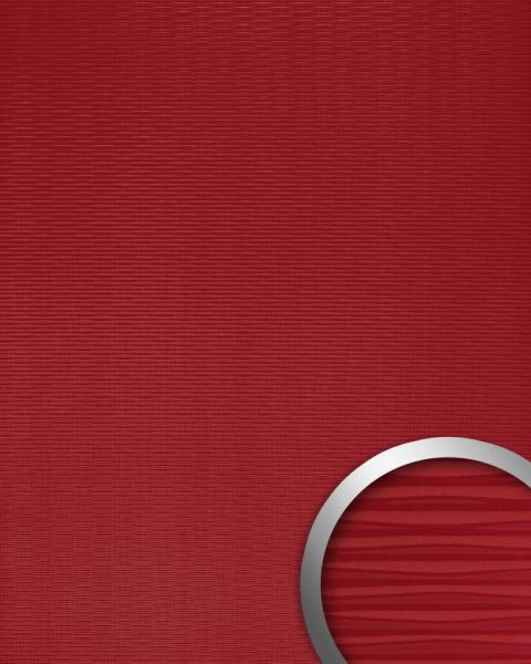 wandverkleidung 3d wellen struktur design kunststoff wandverkleidung selbstklebend rot 2 60 qm. Black Bedroom Furniture Sets. Home Design Ideas