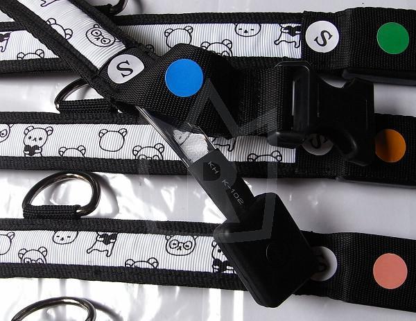 Hundehalsband LED 6 Farben Bärenmotiv