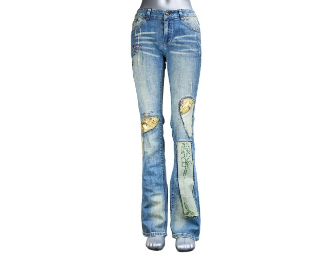 modischen damen jeans hose ab 3 99 eur 12442511. Black Bedroom Furniture Sets. Home Design Ideas