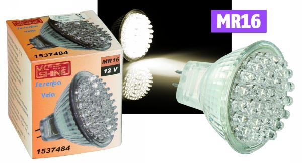LED-Strahler McShine GU5.3 12V, 60 LEDs, 130Lm, Warmweiß 3000K