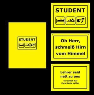 Schreibwaren Großhandel: 17-65031, Collegeblock coole TREND Sprüche, A 6, 80 Seiten kariert