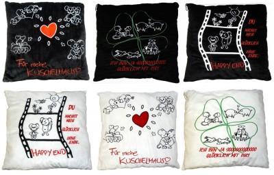 27 27449 kuschel kissen 43 x 43 cm mit liebes spr chen. Black Bedroom Furniture Sets. Home Design Ideas