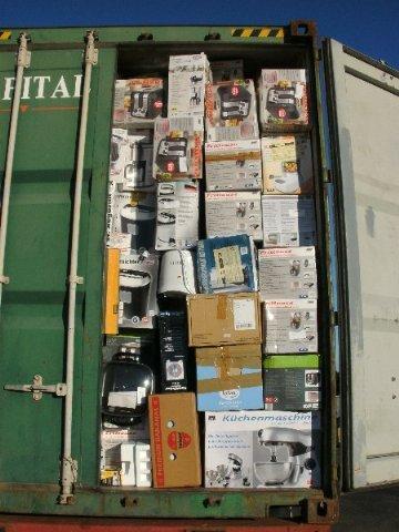 Container 40 Fuss Haushaltswaren Retouren Sonderposten