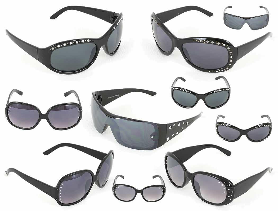 Sexy Damen Sonnenbrillen Sunglasses Brille mit Strass Steinen nur 1,99 Euro