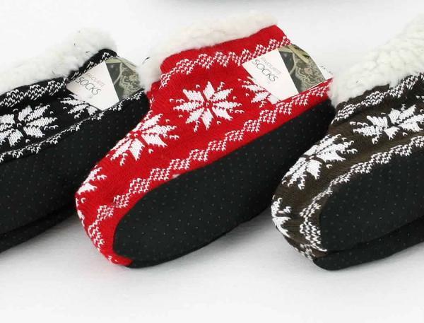 Damen Haussocken Hausschuhe Winter Schuhe Weihnachts Socken Socks Gr 35-41