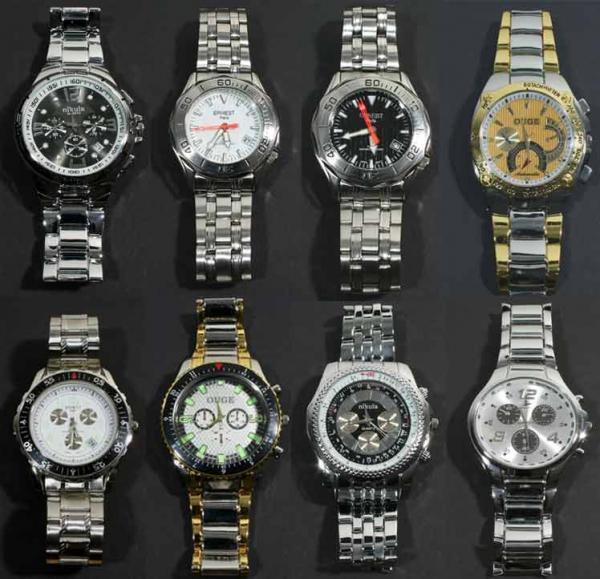 Uhren Großhandel: Hochwertige edle Herren Quarz Uhren mit breitem Armband nur 6,99 Euro
