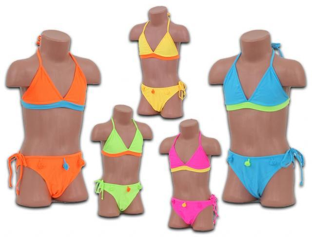 Mädchen Girls Bikinis Bikini Triangel Bademoden Badeanzug Hawaii Gr. 6-12 Jahre nur 2,59 Euro
