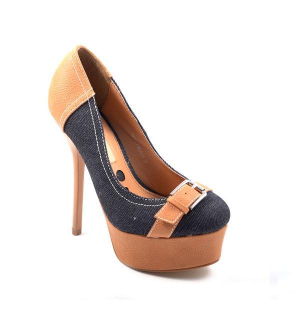 Sexy Damen Pumps Schuhe Shoes High Heels Plateau 3 Farben nur 12,90 Euro