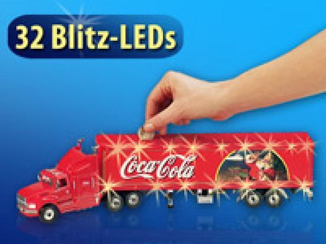 coca cola weihnachtstruck 45 cm mit led licht und spardose. Black Bedroom Furniture Sets. Home Design Ideas