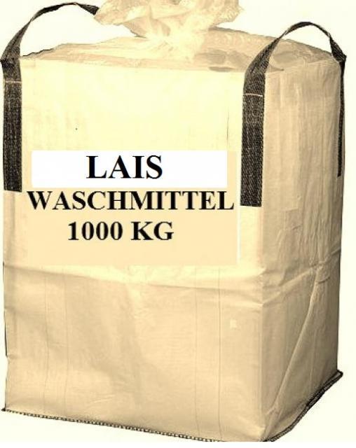 Waschmittel, Waschpulver, Vollwaschmittel LAIS 1000kg BIG BAG