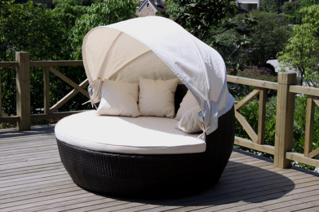 xxl sonneninsel strandkorb sonnenliege sitzgruppe lounge pe rattan 13374040. Black Bedroom Furniture Sets. Home Design Ideas