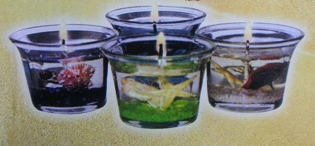 28-403019, Gelkerze im Glas, Maritim, Meeresdeko