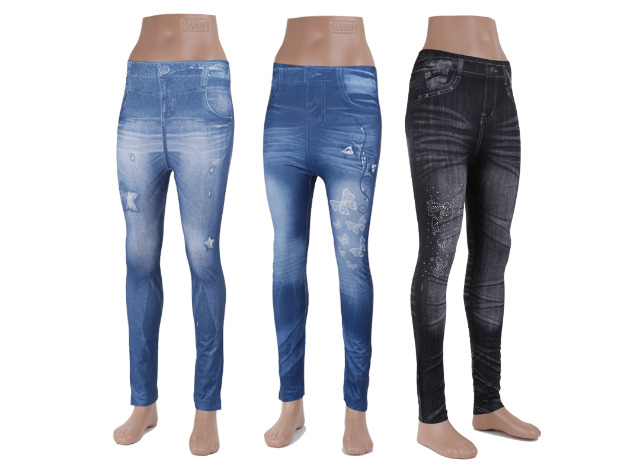 60 modische damen leggings leggins jeans look verschiedene farben nur 2 29 eur je legging. Black Bedroom Furniture Sets. Home Design Ideas