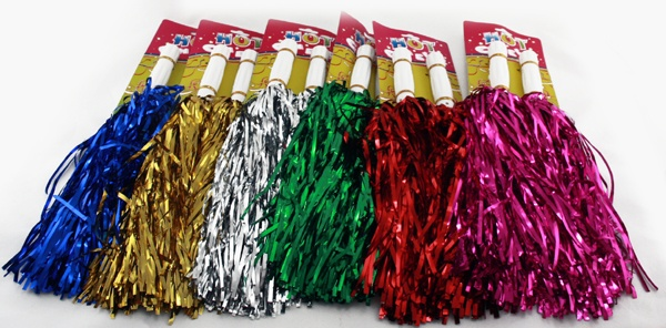 schwere dicke Cheerleader Pompons 2er Pack, Party, Karneval, Fetenhit, Event, Feier