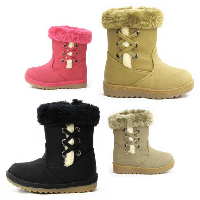 Kinder Fell Stiefel Schuhe Boots Gr. 20-25
