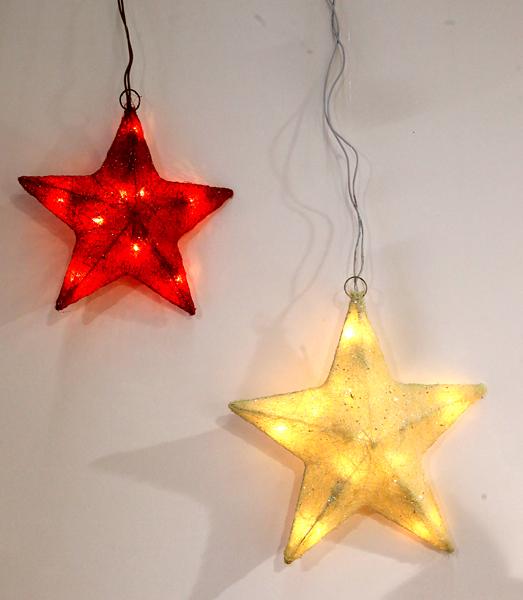 17 28324 sisal stern 30 cm beleuchtet mit glitzer for Stern beleuchtet weihnachten