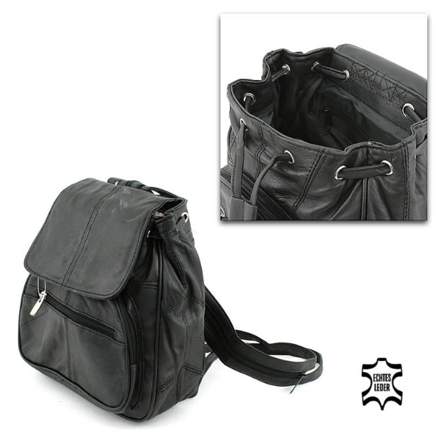 Echt Leder City Rucksack Shopper Bag