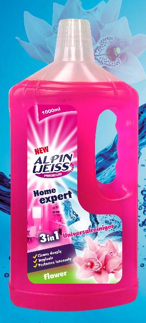 Alpinweiss Home expert 3in1 Universalreiniger Flower, Lemon, Universal detergent 1000ml