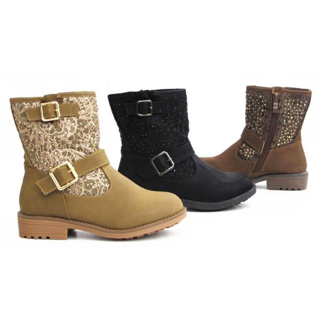 Kinder Mädchen Stiefel Schuhe Boots Gr. 19-24