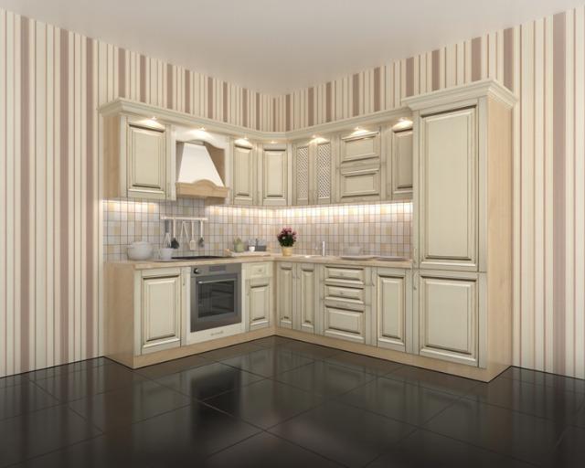 Küche nach Mass in Vanille Gold (14308601) - Restposten.de