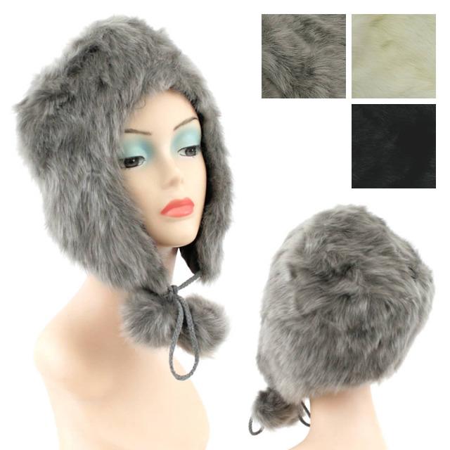 Damen Herbst Winter Fell Mützen Hut Kopfbedeckung