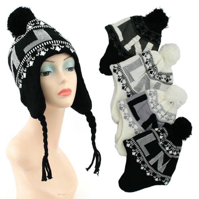 Damen Herbst Winter Strick Mütze Hut Kopfbedeckung