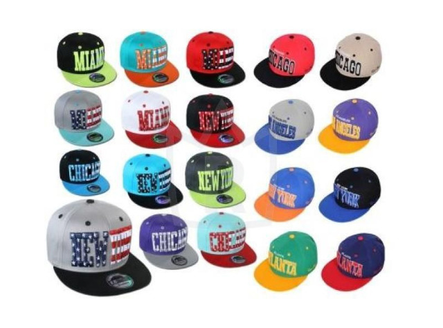 Basecap Cap Caps USA New York Atlanta Chicago Trucker Kappe nur 2,69 Euro.