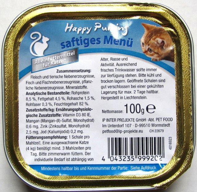 Katzenfutter Happy Purring 100g Alu Schale