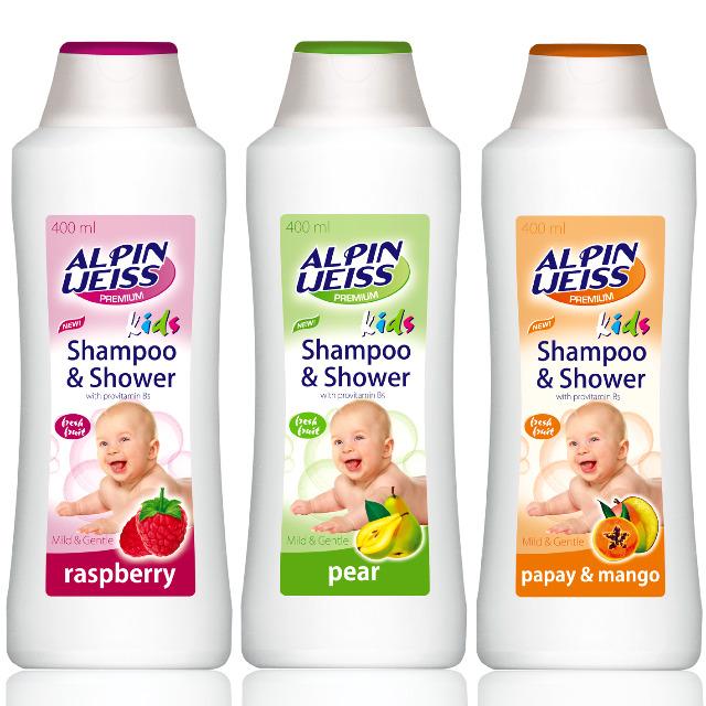 Kindershampoo & Duschgel - Mango Papaya  3-Sorten 400ml NEUE!!!!!