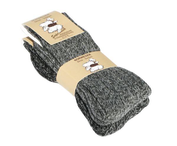 Unisex Norweger Grobstrick-Socken mit Wolle in anthrazit