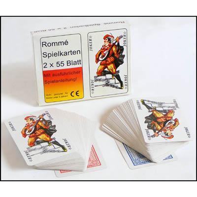 28 0619 romme kartenspiel 2 x 55 karten inkl beschreibung tolles gesellschaftsspiel camping. Black Bedroom Furniture Sets. Home Design Ideas