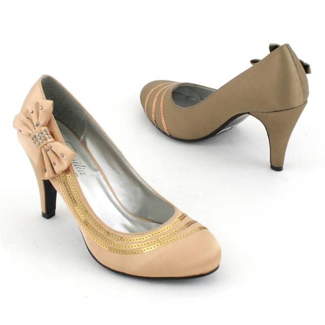 Pumps High Heels Schuhe Glitzeroptik