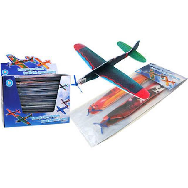 28-369433, Styropor Flugzeug, 2er Set, Flying Gliders, Klassiker, Styropor Flieger
