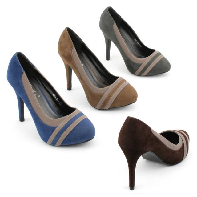 Damen Pumps High Heels Schuhe Musterung