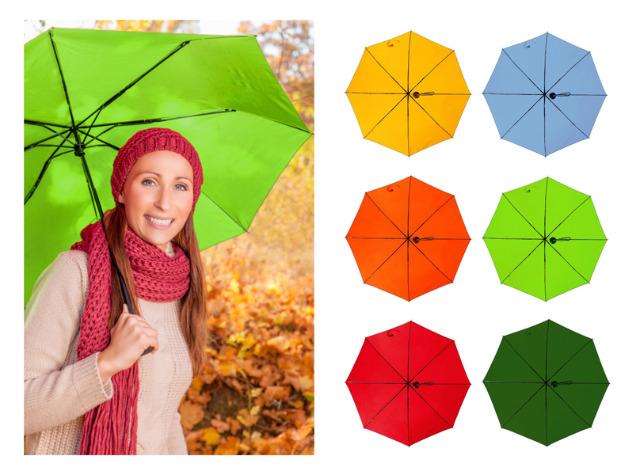 12-29006, Taschenschirm in Trendfarben, Regenschirm, Stockschirm