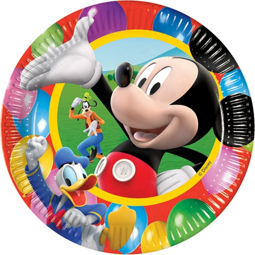 27-45058, DISNEY - Teller Micky Maus 10er Pack, Pappteller 22 cm, Einweggeschirr, Geburtstag, Party, Event, usw