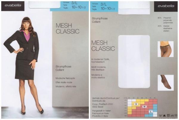 tolle und modische damen mesh classic Strumpfe /FAN MESH CLASSSIC NETZSTRUMPFOSE EVABELLA /3181