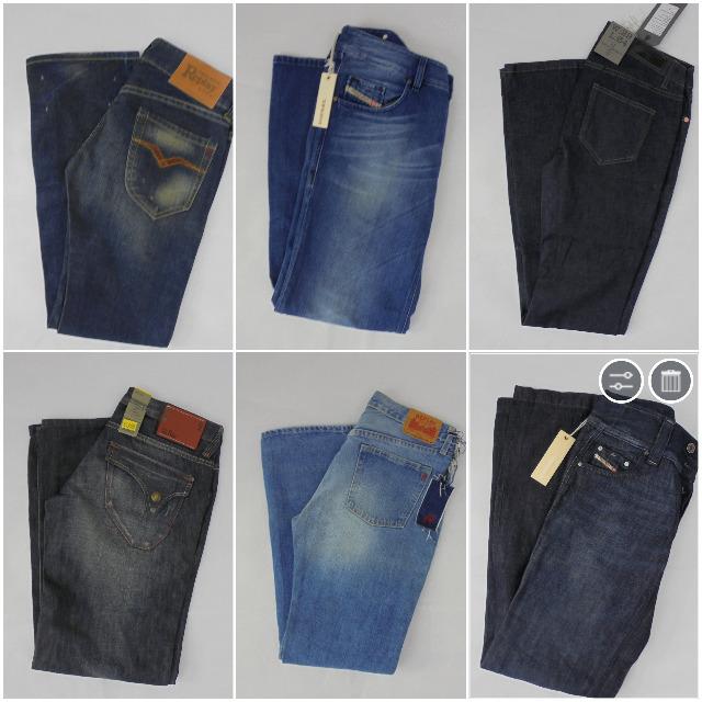 Textilien Großhandel: Jeans Mix Diesel, G-Star, Replay, Levis, Jack & Jones, LTB, Only, Vero Moda, Wrangler, Lee