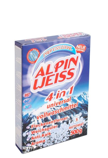 Waschmittel, Vollwaschmittel, Detergent, washing powder Alpinweiss 500g
