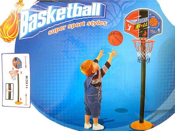 Basketballkorb mit Ständer und Ball