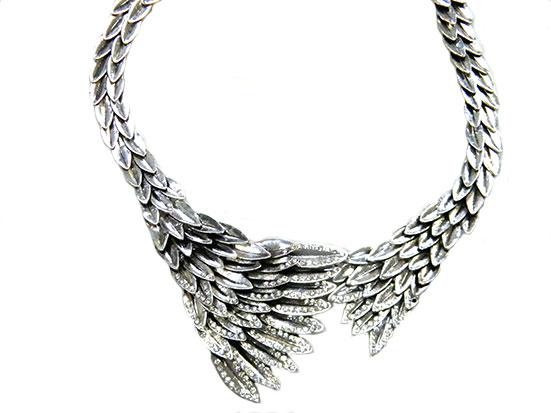 Halskette Kristallsteine Hals Collier Kette Ketten Nr 243