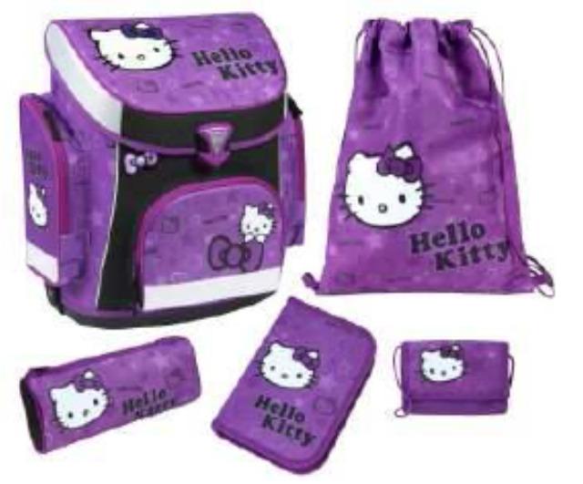 Schreibwaren Großhandel: 12-HKAZ825, Hello Kitty CAMPUS Plus Schulranzen Set, 5-teilig
