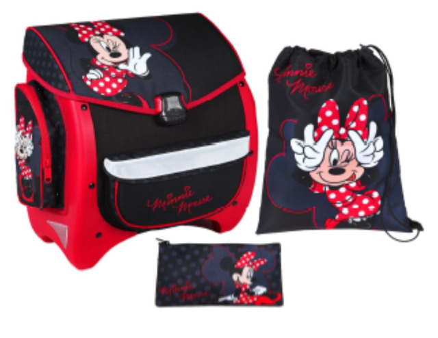 12-MIPS8670, Minnie Mouse SCHULRANZENSET 3-teiliges Set